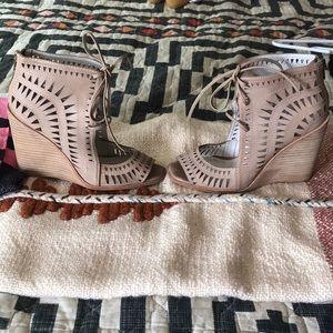 Jeffrey Campbell rodillo high wedge cutout sandal